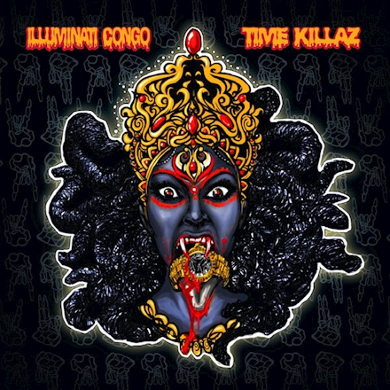 The cover art is an offer to and from Kali Ma, made by the legendary visual artist Slang.