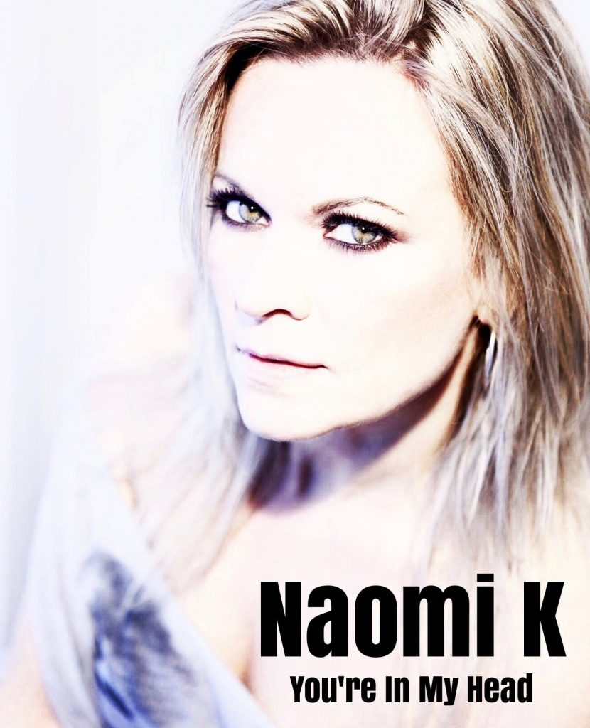 "Naomi K // ""You're In My Head"" - single cover"