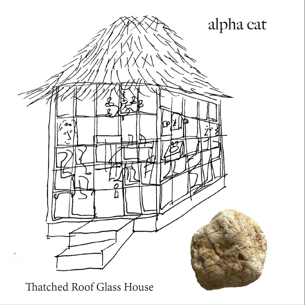 "Elizabeth McCullough, aka Alpha Cat // ""Thatched Roof Glass House"" - artwork"