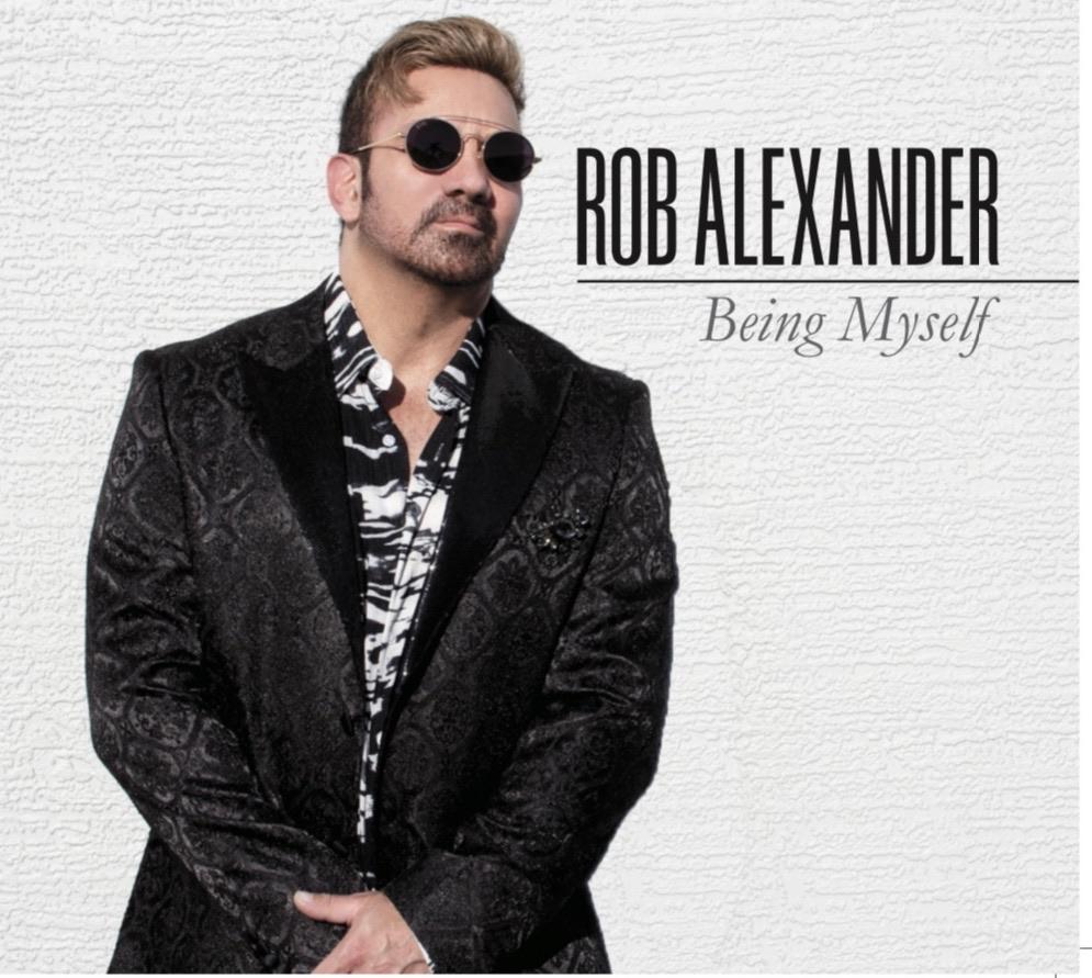 "Rob Alexander // ""Being Myself"" - album cover"