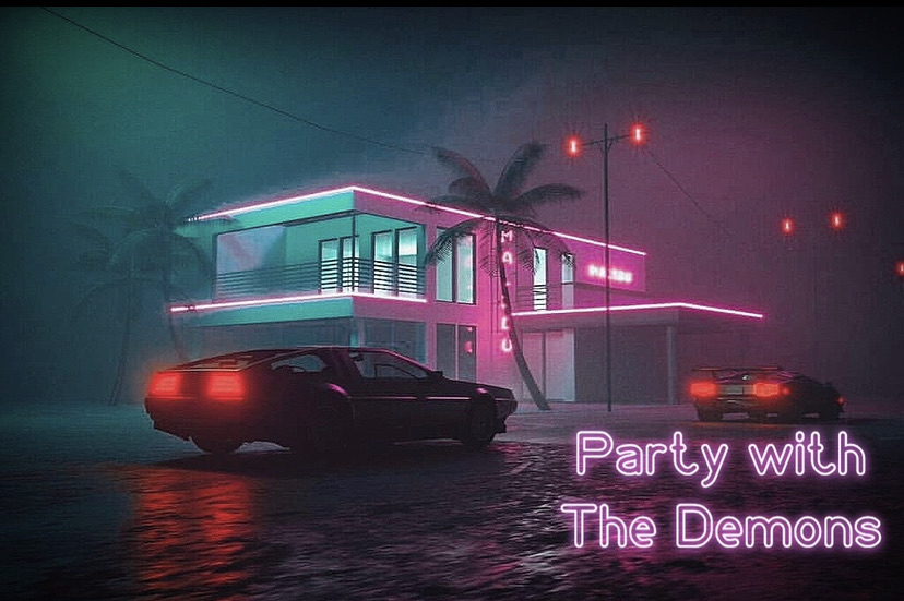 "Flyguytk // ""Party With The Demons"" - artwork"