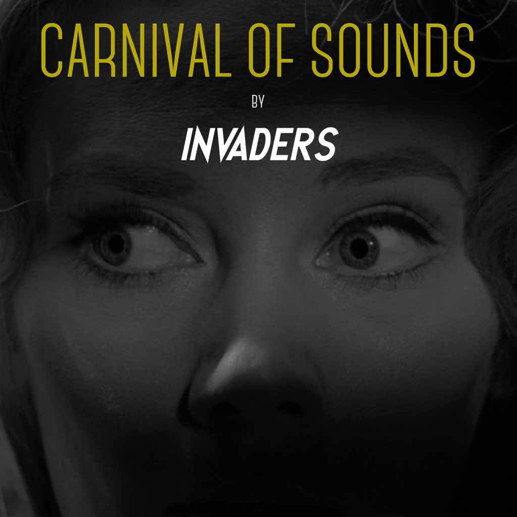 Invaders // Carnival of Sounds - album cover, photo of Candace Hilligoss