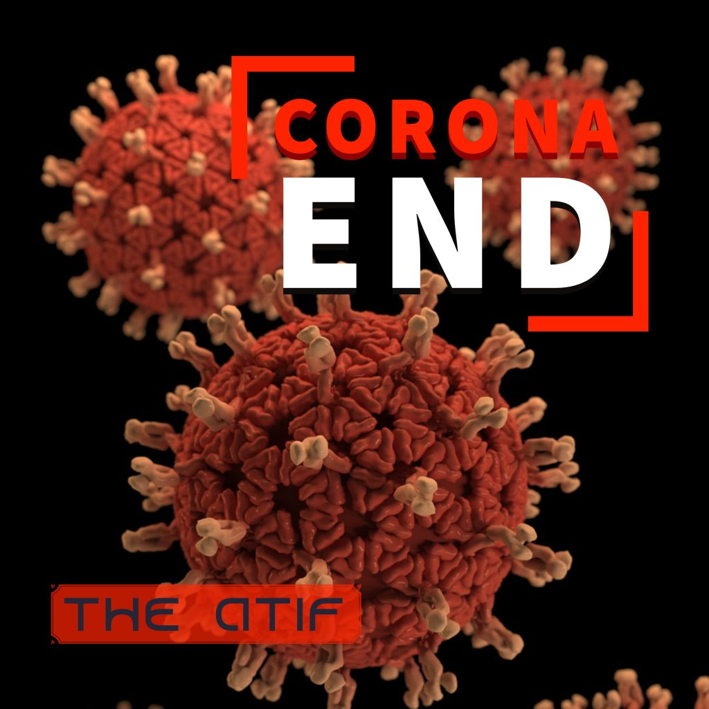 The Atif // Corona End - single cover