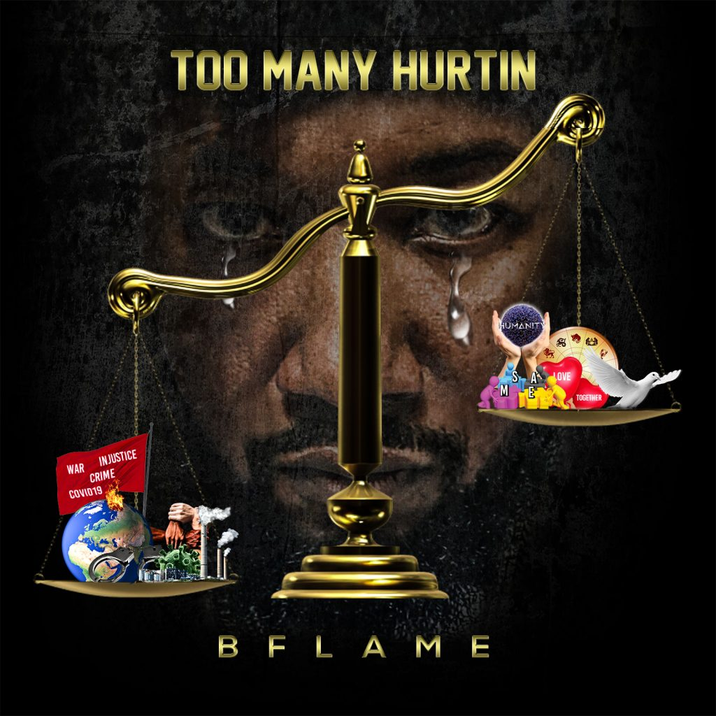 BFLAME // Too Many Hurtin' - single cover