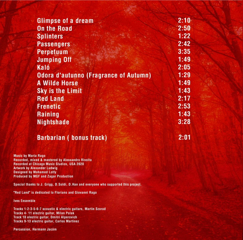 Maria Rago - Red Land - CD album tracklist