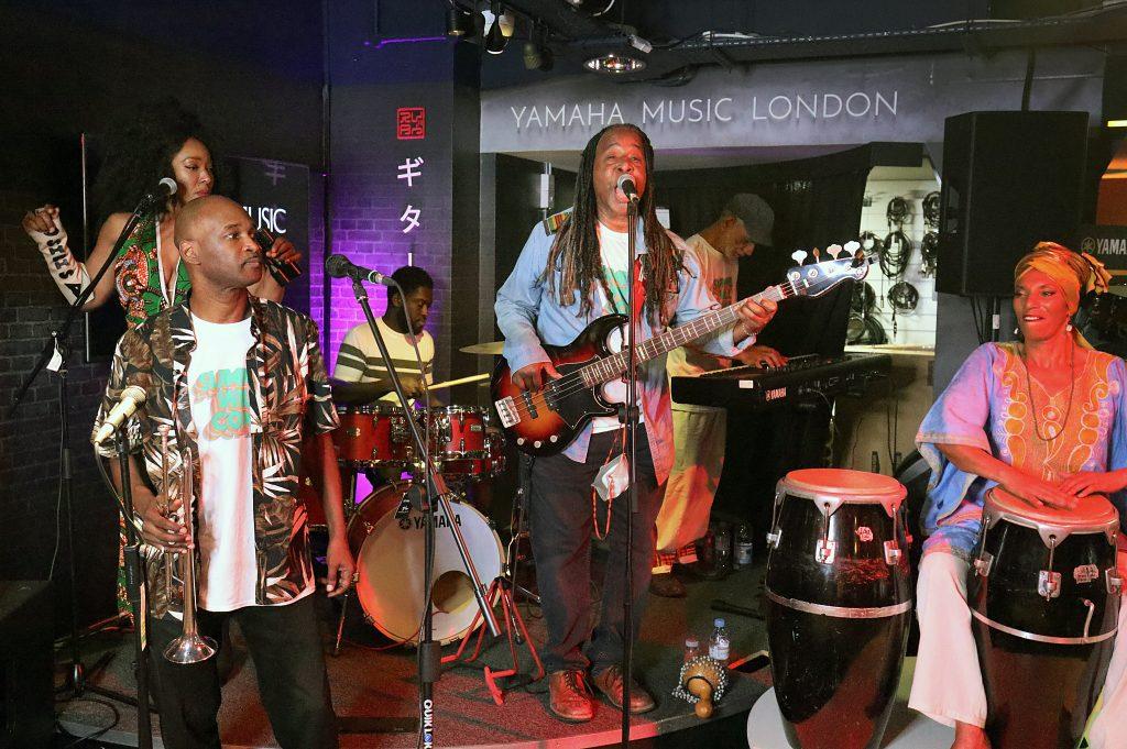 Osibisa, the band performing at Yamaha Music London