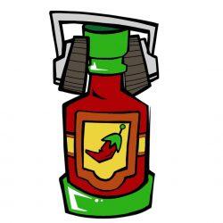 Hot Sauce - No Mercy - logo icon