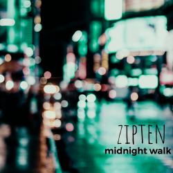 Zipten - Midnight Walk - single cover artwork